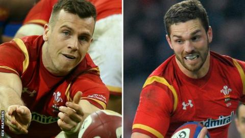 Gareth Davies (left) & George North