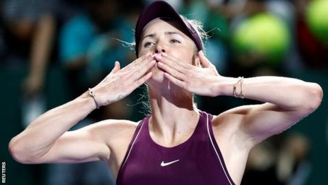 Svitolina had never progressed from the WTA Finals group stage before