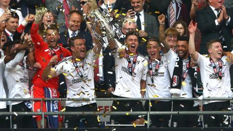 Fulham lift the trophy