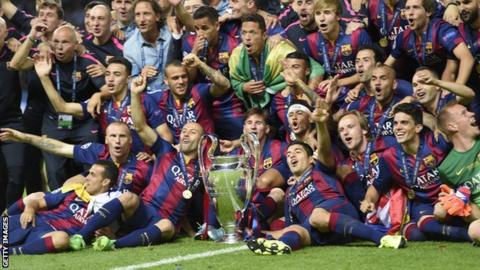 Barcelona won the Champions League last season