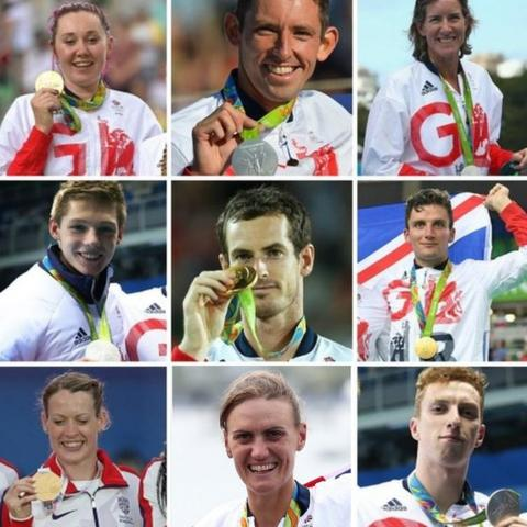 (top row, from left), Katie Archibald, David Florence, Katherine Grainger; (middle row, from left) Duncan Scott, Andy Murray, Callum Skinner; (bottom row, from left) Eilidh Doyle, Heather Stanning, Dan Wallace