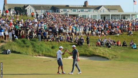 American Brooks Koepka won the 2017 US Open at Erin Hills by four shots