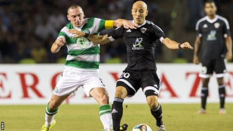 Scott Brown playing for Celtic against Qarabag