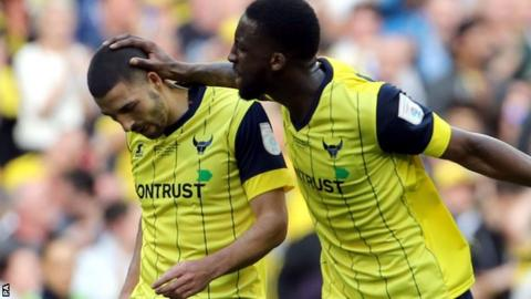 Liam Sercombe and Chey Dunkley of Oxford United