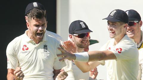 England's James Anderson celebrates
