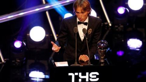 Luke Modric at the Best Fifa Football Awards