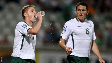 Damien Duff and Keith Andrews