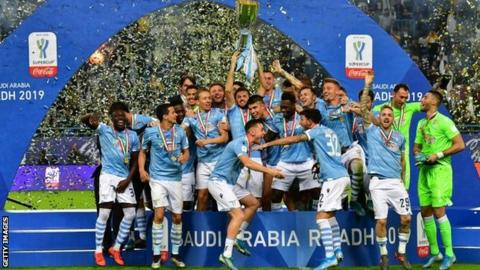 Lazio beat Juventus 3-1 to lift Italian Super Cup