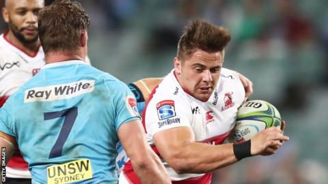 Rohan Janse van Rensburg in action for Super Rugby side Lions