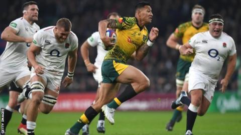Israel Folau in action for the Wallabies