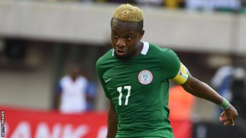 Ogenyi Onazi in action for Nigeria