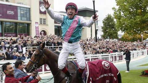 Enable created history with victory in the l'Arc de Triomphe at Chantilly