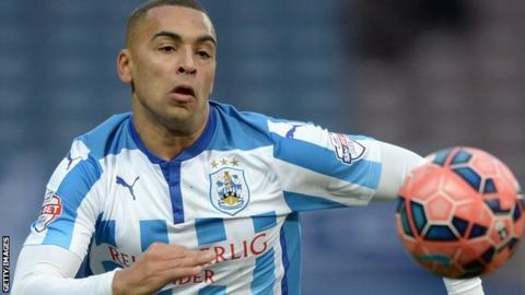 Huddersfield Town striker James Vaughan