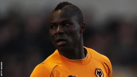 Emmanuel Frimpong in action for Wolverhampton Wanderers