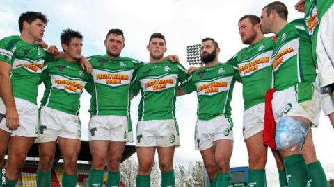 b55ff4c045bd0 Ireland Rugby League team's Serbia game abandoned after row - BBC Sport