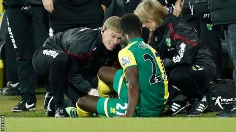 Norwich midfielder Alex Tettey