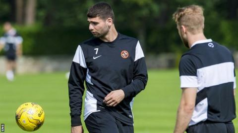 Nadir Ciftci in pre-season training with Dundee United