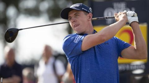 Grant Forrest in action at the Open in Carnoustie