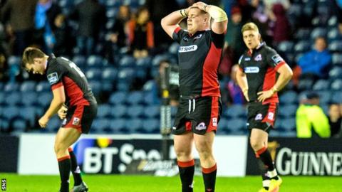 Edinburgh players look dejected