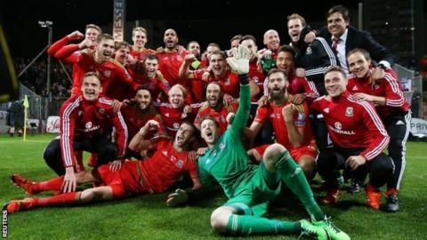 Wales celebrate
