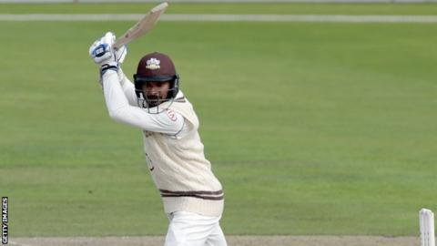 Kumar Sangakkara en route to a century at Old Trafford