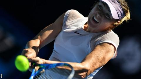 Sharapova enjoys winning return to Melbourne
