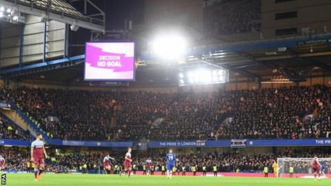 Offensive chants were heard during the game at Stamford Bridge