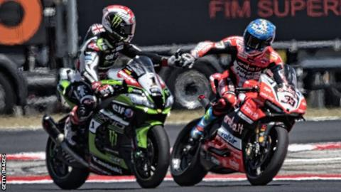 World champion Jonathan Rea and Marco Melandri are two of the top riders in World Superbikes