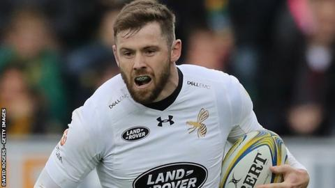 England winger Elliott Daly was one of Wasps' six try scorers at Kingston Park, also adding a conversion