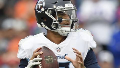 Quarterback Marcus Mariota #8 of the Tennessee Titans