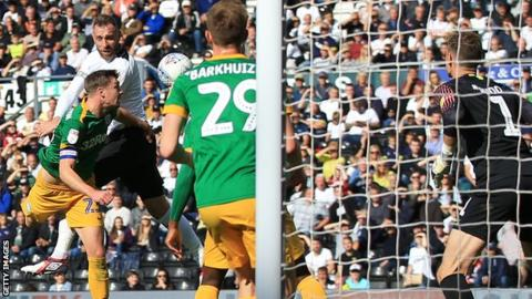 Richard Keogh's late header sealed the points for Derby County against Preston.