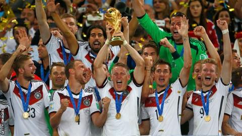 Germany celebrate World Cup