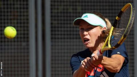 Italian Open: Caroline Wozniacki withdraws from first-round match with injury