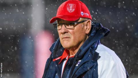 Hull KR coach Tim Sheens on the sidelines