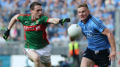 Patrick Durcan battles with Ciaran Kilkenny in last year's semi-final replay