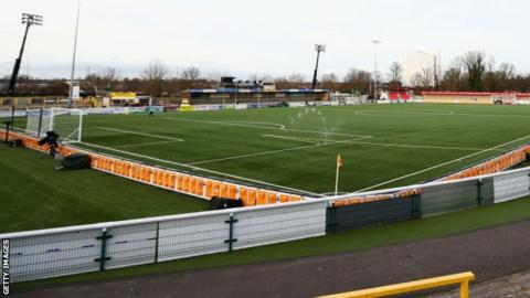 Sutton United play home games at gander Green Lane