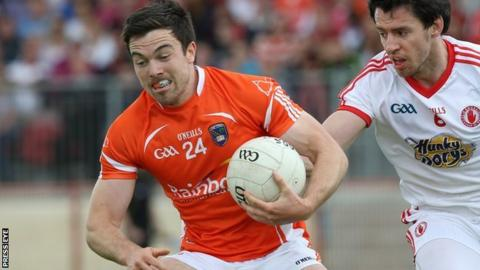 Armagh's Aidan Forker was sent-off in the 30th minute of the second half