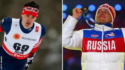 Alexander Legkov and Evgeniy Belov