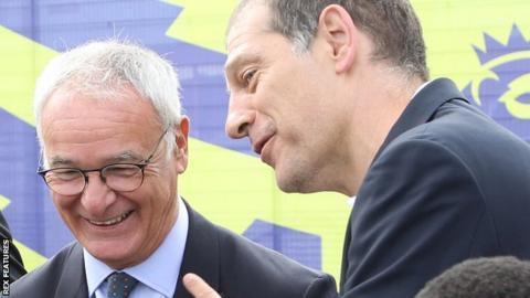 Slaven Bilic and Claudio Ranieri