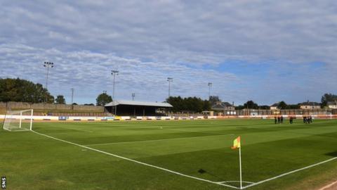 Shielfield Park, home of Berwick Rangers.