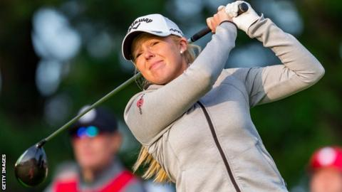 Stephanie Meadow is on course to regain an LPGA Tour card