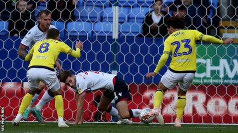 Bradley Dack puts Blackburn 1-0 up at Bolton