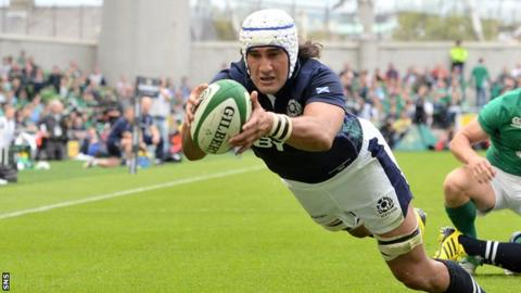 Scotland back-row forward Blair Cowan