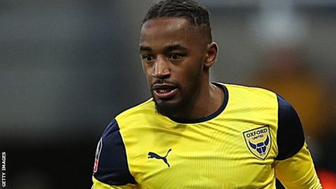 Tariqe Fosu in action for Oxford United