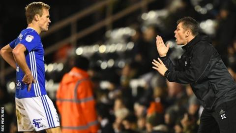 Steve Cotterill was his customary animated self during the 90 minutes at Craven Cottage, giving advice here to midfielder Maikel Kieftenbeld