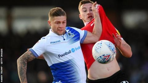 James Clarke made 126 appearances in his four seasons with Bristol Rovers