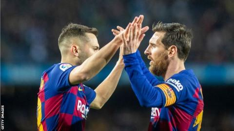 Messi announces Barca players will take 70 per cent pay-cut