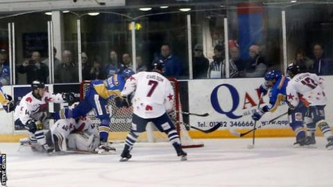 Dan Correale scores the overtime goal for Fife Flyers to spark celebratory scenes in Dundee