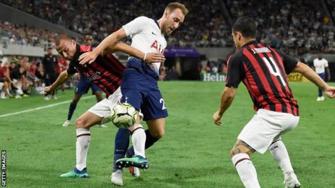 102780505 eriksen - Tottenham beat Milan in final US tour game