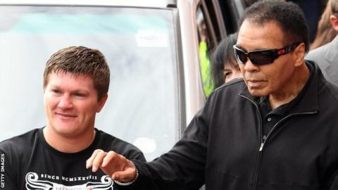 Ricky Hatton with Muhammad Ali